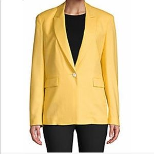 Lafayette 148 Silk Yellow Blazer